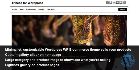 Tribeca WordPress  WP Ecommerce Theme
