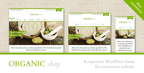 Organic Shop  Responsive WooCommerce Theme