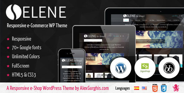 Selene  Fullscreen eCommerce WordPress Theme