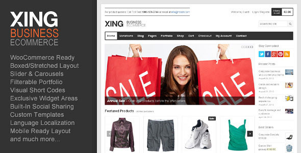 Xing  Business / ecommerce WordPress Theme