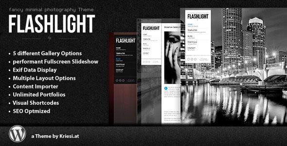 Flashlight  fullscreen background portfolio theme