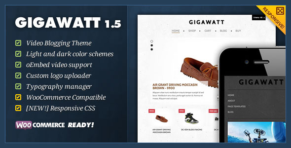 Gigawatt  eCommerce WordPress Theme
