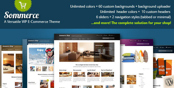 Sommerce Shop  A Versatile Ecommerce Theme