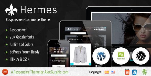 Hermes  Fullscreen eCommerce WordPress Theme