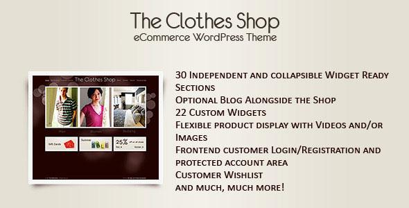 The Clothes Shop WordPress eCommerce