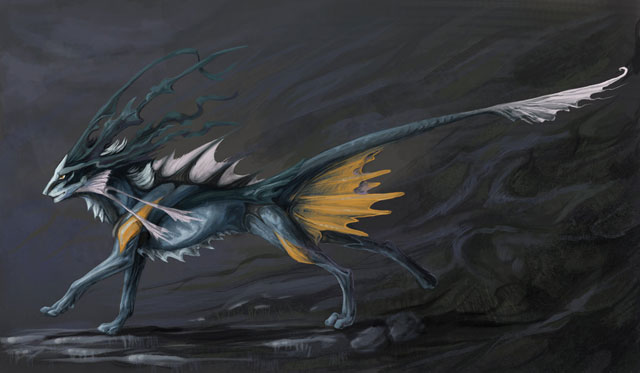 25 super amazing digital drawings of fantasy creatures for Cool fantasy drawings