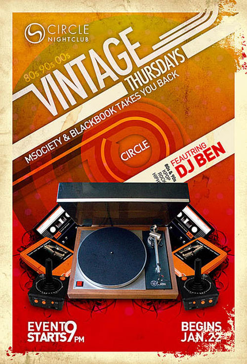 Vintage – Flyer by rasterboy