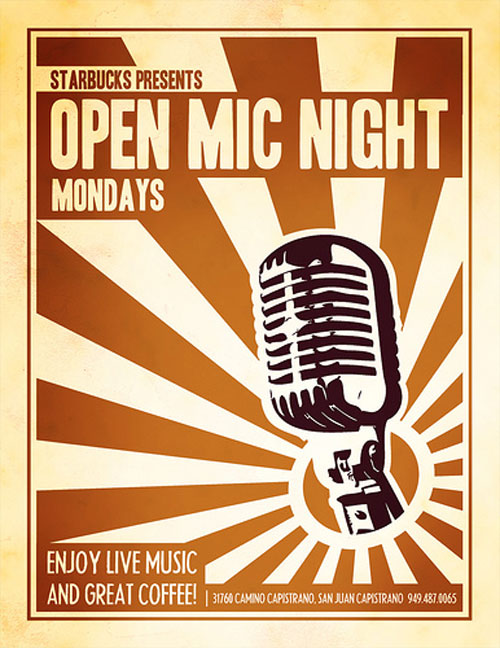 Open Mic Night Flyer