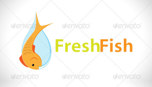 Fresh Fish Logo Template