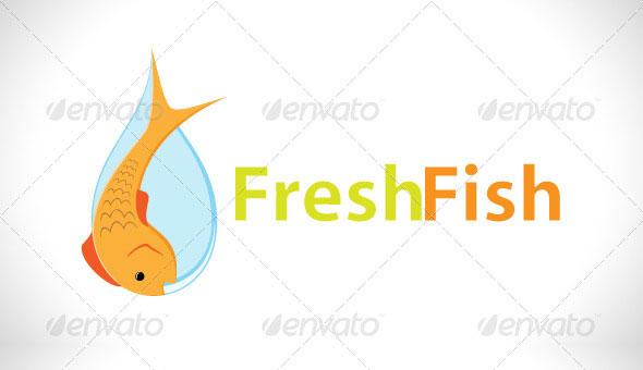 Fresh Fish Logo Template
