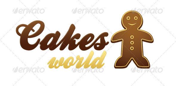 Gingerbread Logo Template