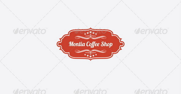 Montia Coffee Shop Logo Template