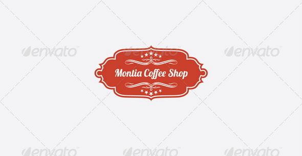 Montia Coffee Shop Logo Template