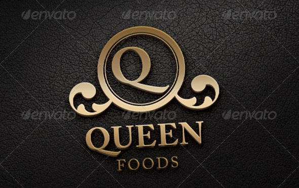 Queen Foods Logo Template