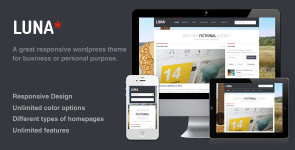 Luna - Responsive WordPress Theme