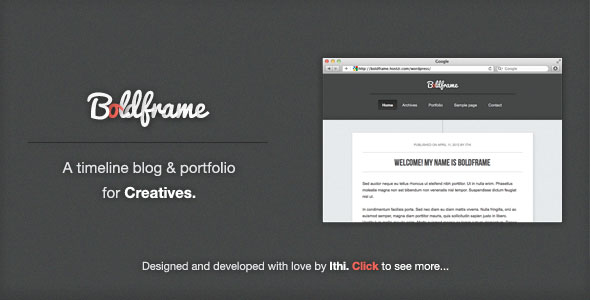 Boldframe - blog & portfolio for Creatives