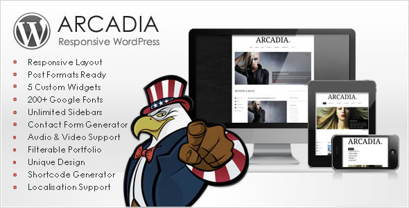 Arcadia Responsive WordPress Blog