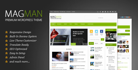 MagMan - Responsive News/Blog WP theme