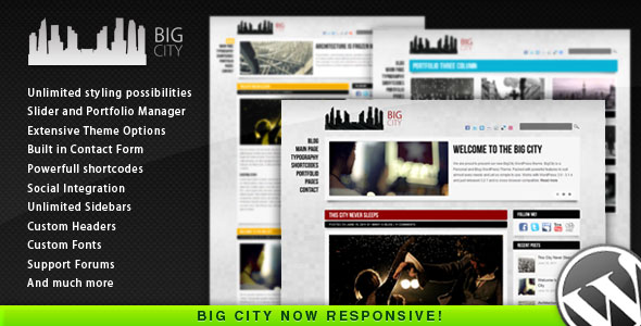 Big City - Personal and Blog WordPress theme