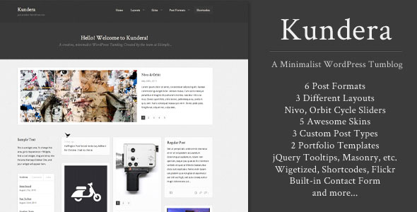 Kundera: Creative WordPress Tumblog