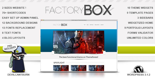 FactoryBox Premium WordPress Theme