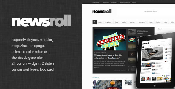Newsroll - Modular and Responsive Magazine Theme