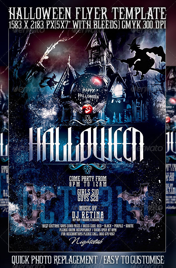 23 Wicked Halloween PSD Flyer Templates | Web & Graphic Design ...