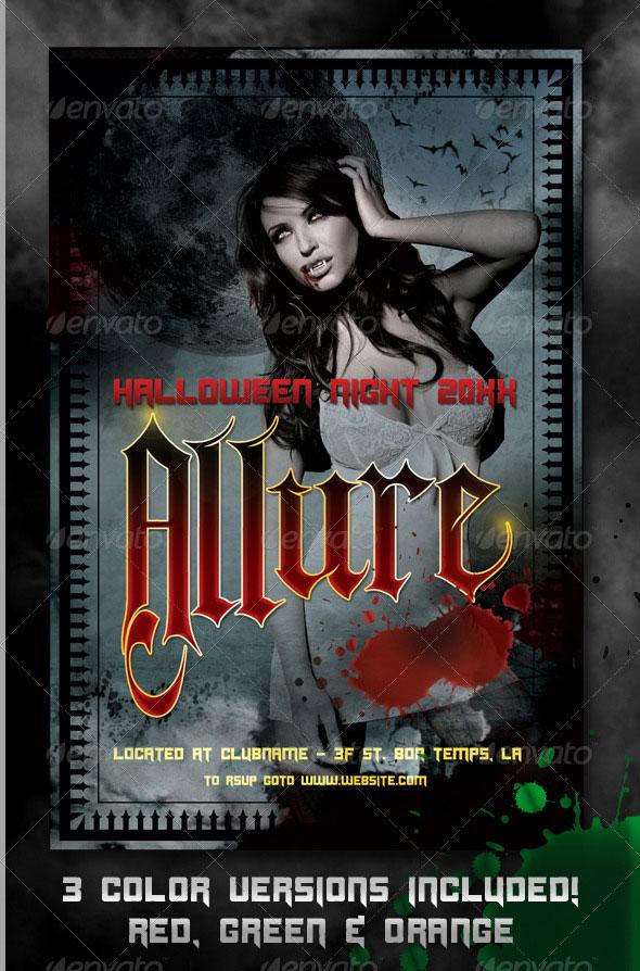 Allure Halloween Flyer