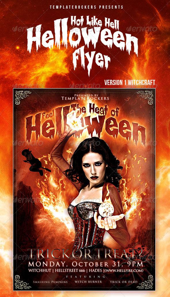 Hot Halloween Flyer