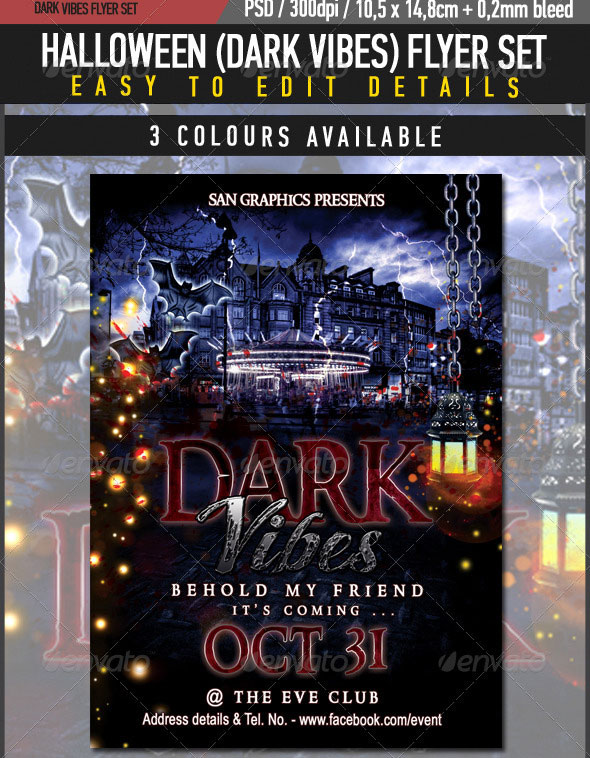Halloween Dark Vibes Flyer Set