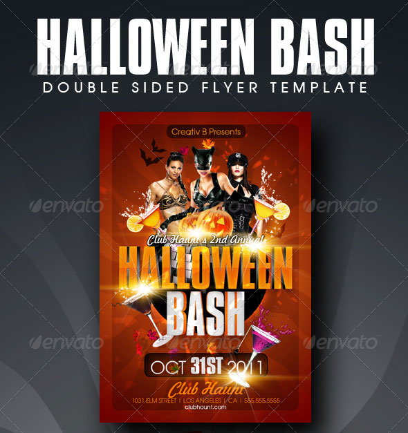 Wicked Halloween Psd Flyer Templates  Web  Graphic Design