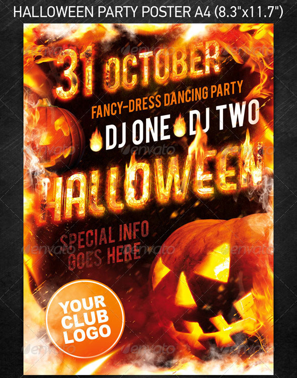 23 wicked halloween psd flyer templates web graphic design halloween party template saigontimesfo