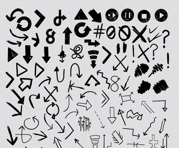 101 Hand Drawn Arrows