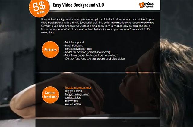 8 jQuery & HTML5 Video Background Plugins – Bashooka