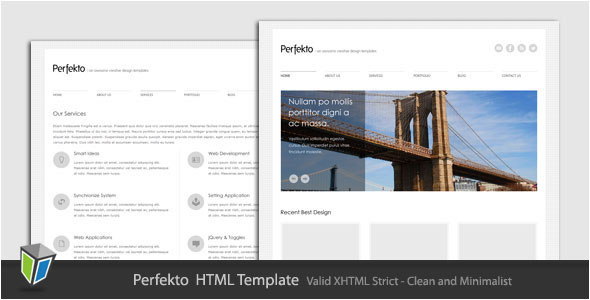 Perfekto - Minimalist Portfolio HTML Template