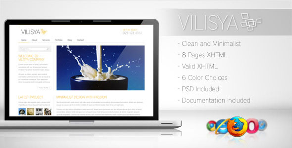 Vilisya - Minimalist Business Template 3