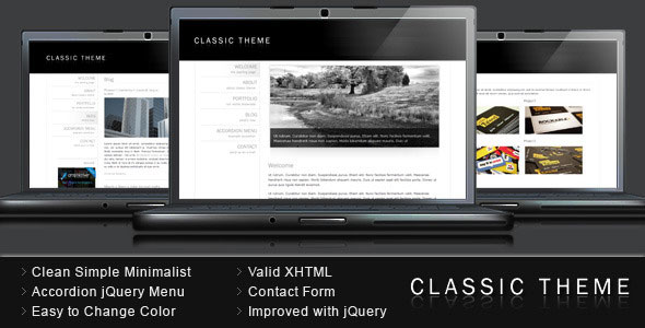 Classic Theme - Simple Clean Minimalist Template