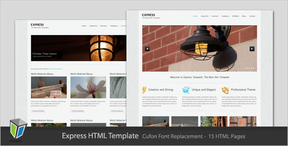 50 powerful minimalist website templates web graphic design express clean minimalist business html template pronofoot35fo Image collections