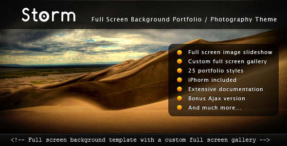 Storm - Full Screen Background Template