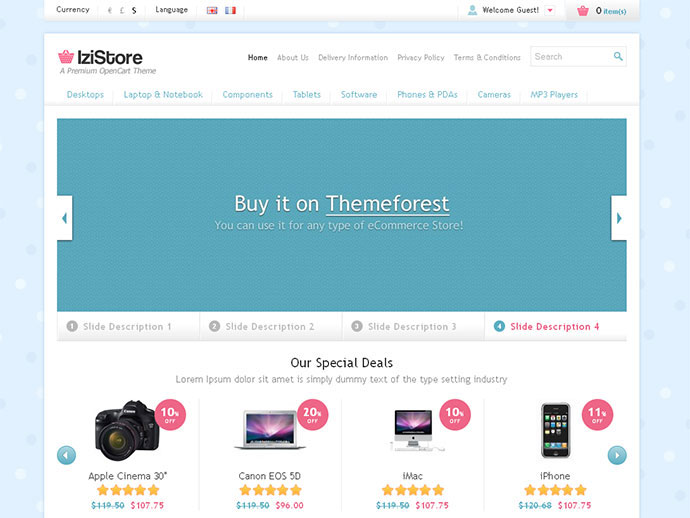 IziStore - Responsive OpenCart Theme