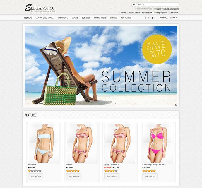 Eleganshop - Premium OpenCart Theme