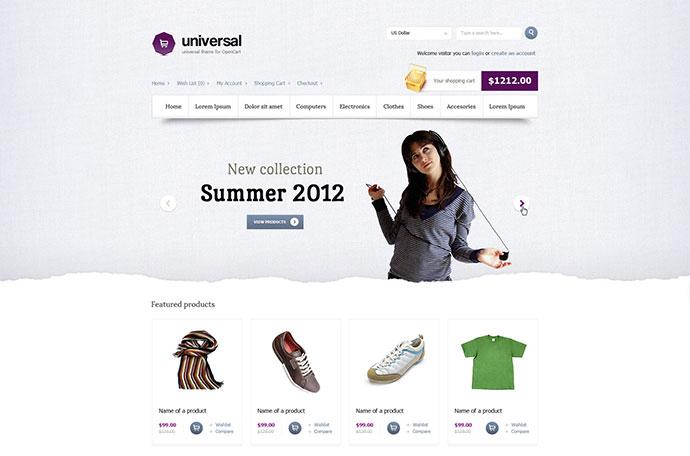 Universal - premium theme for opencart