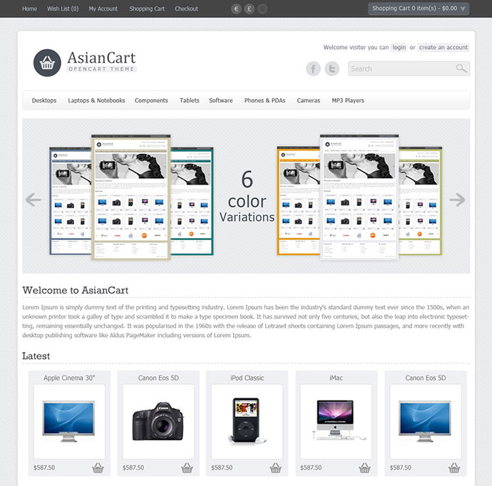 58 best opencart templates web graphic design bashooka