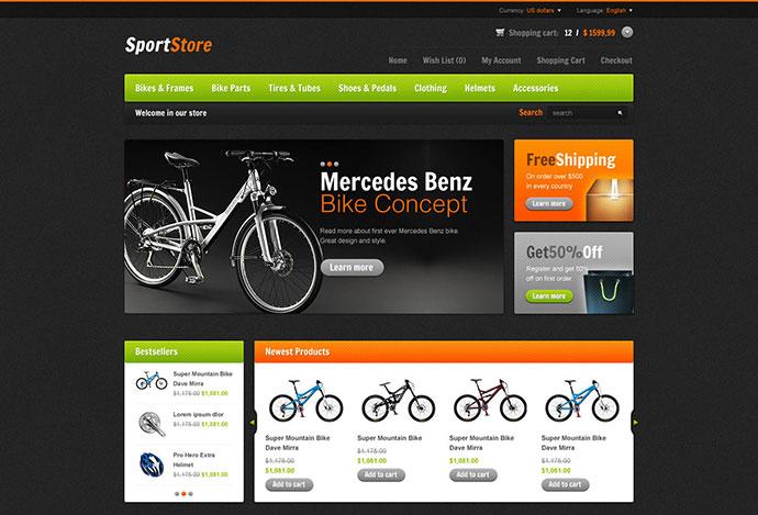 SportStore Premium OpenCart Theme