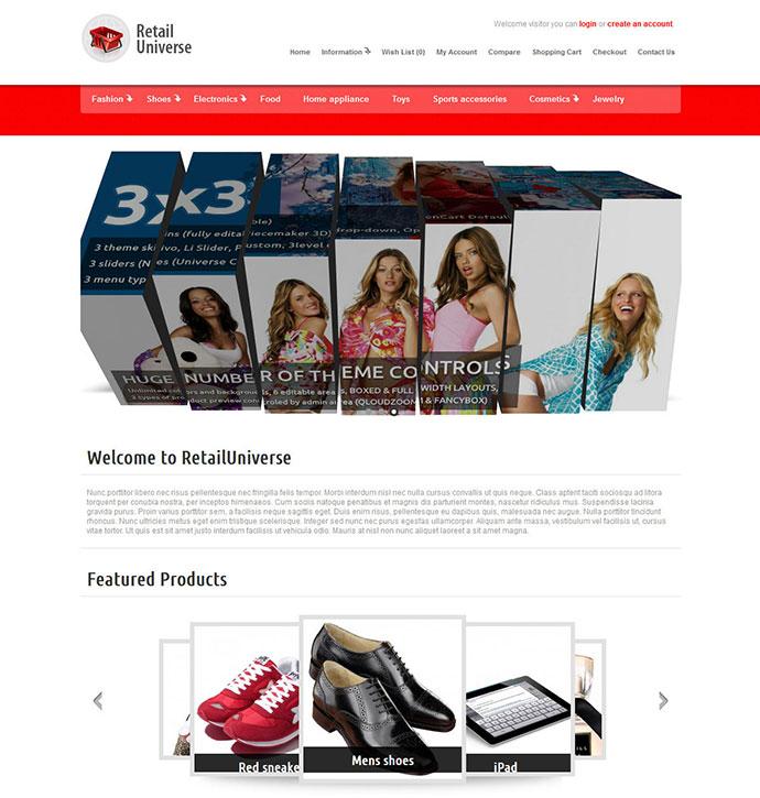 RetailUniverse - Ultimate OpenCart theme