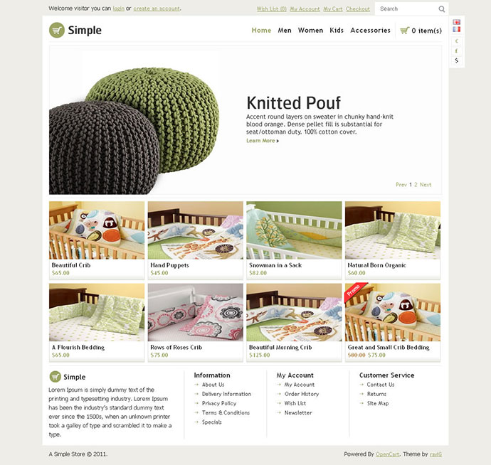 Simple - OpenCart Theme
