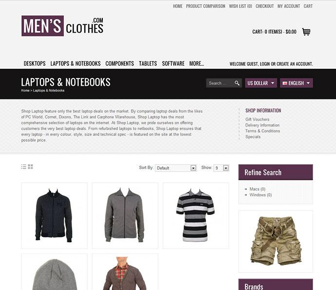 Fashionista Premium OpenCart Theme