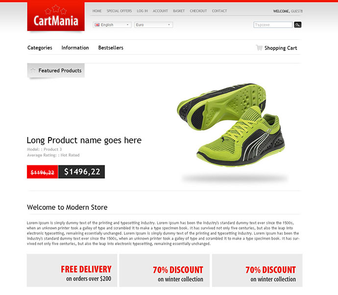 CartMania - The Ultimate OpenCart 1.4.9.3 template
