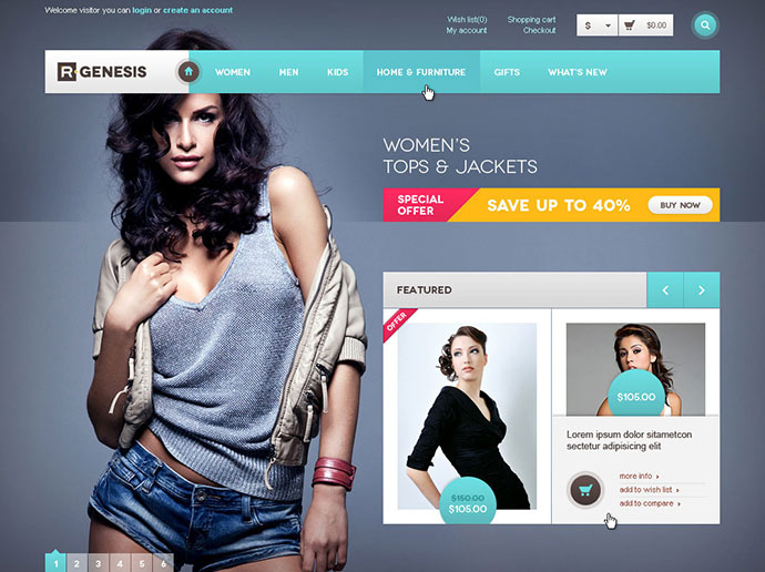R.Gen - OpenCart Modern Store Design