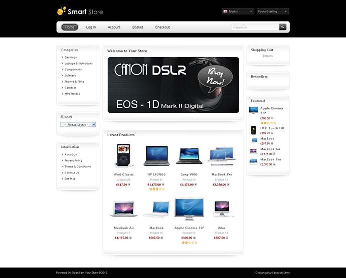 Smart Store Opencart Template